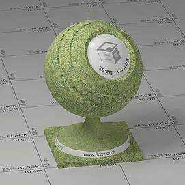 草地Vary材质球球