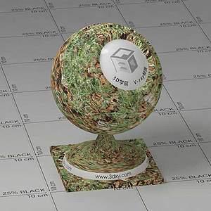 落地树叶Vary材质球球