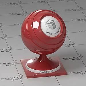 暗紅色車漆Vary材質球球