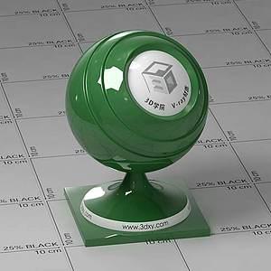 綠色車漆Vary材質球球