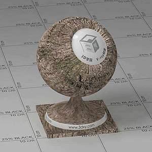 树干Vary材质球球