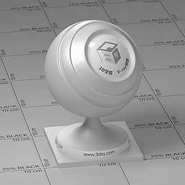 白色车漆Vary材质球球