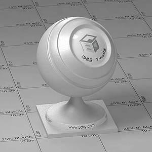 白色車漆Vary材質球球