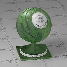 绿色树叶Vary材质球球