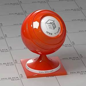 紅色車漆Vary材質球球