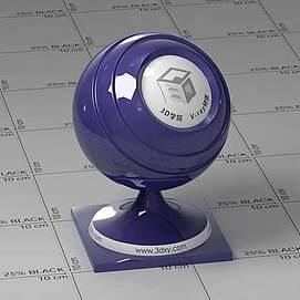 蓝色车漆Vary材质球球