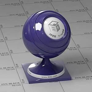 藍色車漆Vary材質球球