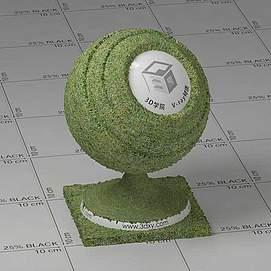 暗绿色草地Vary材质球球