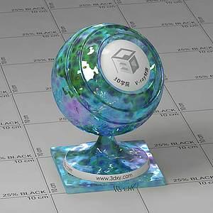 藍水Vary材質球球