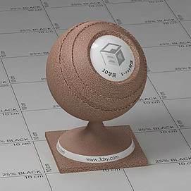 咖啡色皮革Vary材质球