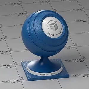 暗藍色皮革Vary材質球