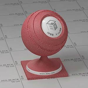 紅色皮革Vary材質球