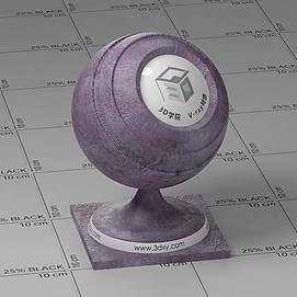 紫色皮革Vary材质球