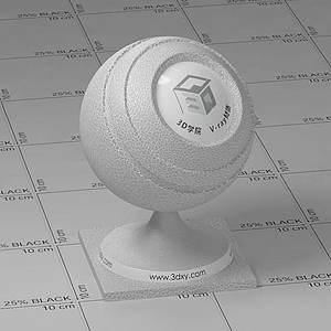 白色皮革Vary材質球