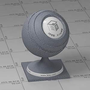 灰色皮革Vary材質球