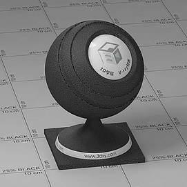 黑色皮革Vary材质球