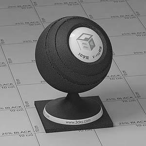黑色皮革Vary材質球