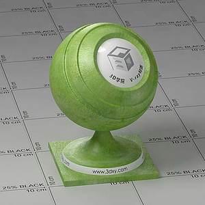 綠色皮革Vary材質球