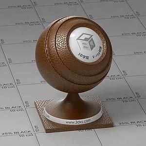 土黃色皮革Vary材質球