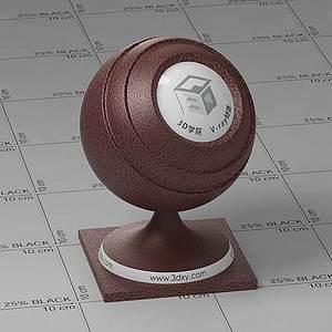 棕色皮革Vary材質球