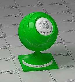 绿色塑料vray材质