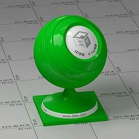 绿色塑料Vary材质球