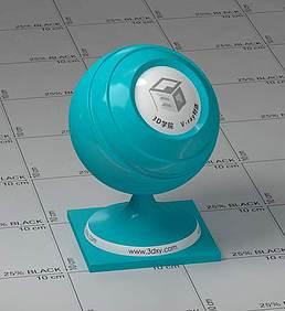 蓝色塑料vray材质