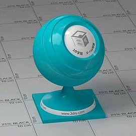 蓝色塑料Vary材质球