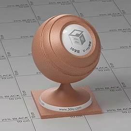 橙色皮革Vary材质球球