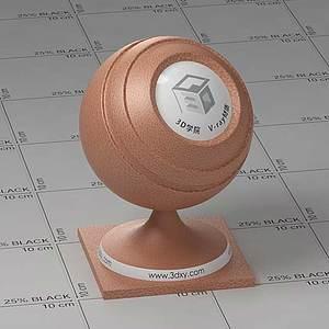 橙色皮革Vary材質球球
