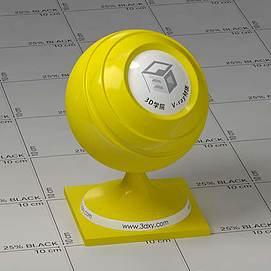 黄色塑料Vary材质球