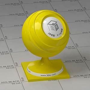 黃色塑料Vary材質球