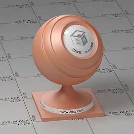 皮肤色塑料Vary材质球