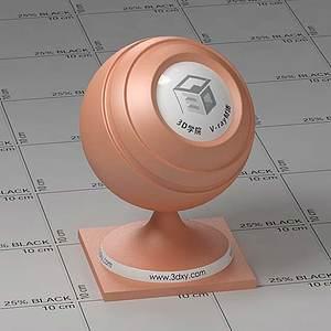 皮膚色塑料Vary材質球