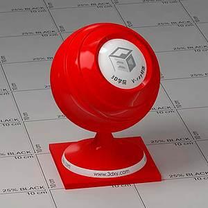 紅色塑料Vary材質球