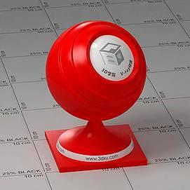 红色塑料Vary材质球