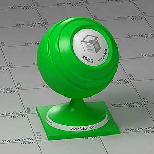 綠色塑料Vary材質球