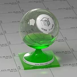 荧光棒Vary材质球