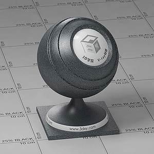 黑色皮革Vary材質球球