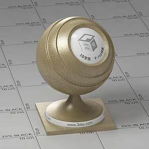 橄欖色皮革Vary材質球球