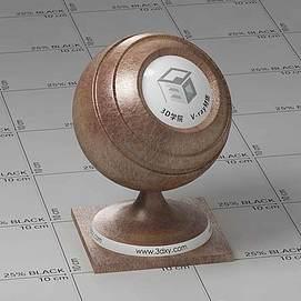 棕色皮革Vary材质球球