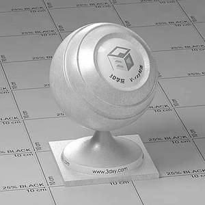 銀色皮革Vary材質球球