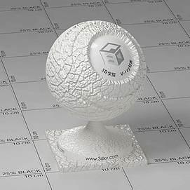 白色皮革Vary材质球球