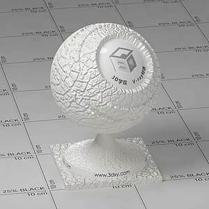 白色皮革Vary材質球球
