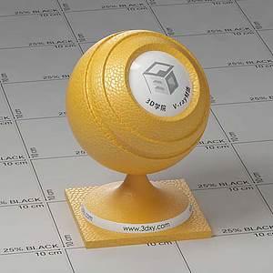 黃色皮Vary材質球球