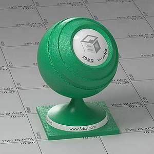 綠色皮革Vary材質球球