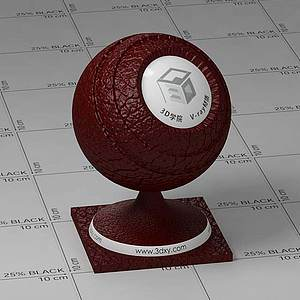 紅色皮革Vary材質球球