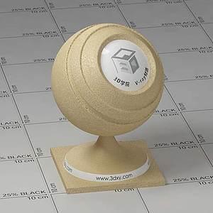 黃色皮革Vary材質球球