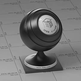 黑色塑料Vary材质球球