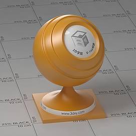 黄色塑料Vary材质球球